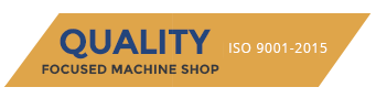 Quality Focused Machine Shop Registered Quality System ISO 9000 checked